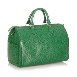 Louis Vuitton Green Epi Leather Speedy 35