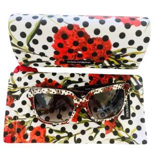 Dolce & Gabbana rose print acrylic sunglasses