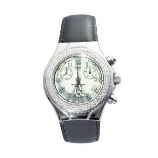 TechnoMarine Diamond Bezel Steel 36mm Ladies Watch