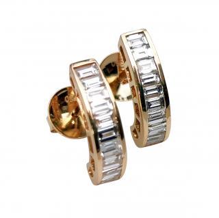 Bespoke 18ct Yellow Gold Diamond Earrings
