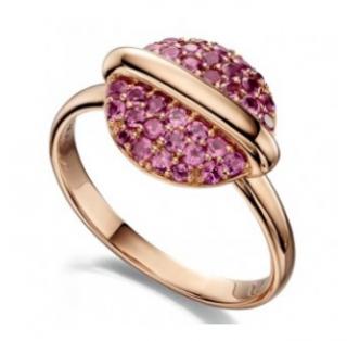 Fiorelli Rose Gold Garnet Eclipse Ring