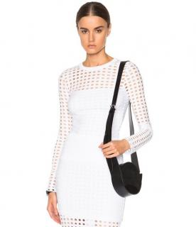 T by Alexander Wang White Fishnet Top