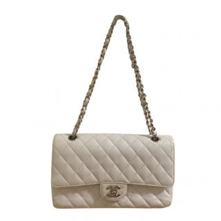 Chanel White Caviar Leather Classic Double Flap