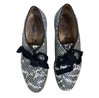 Lanvin Python Effect Lace-Up Shoes