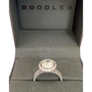 Boodles Platinum Set Brilliant Cut Diamond Ring