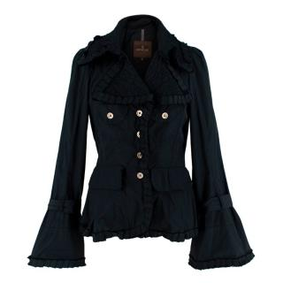 Moncler Black Pleated Pleated Jacket
