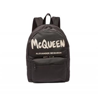 Alexander McQueen Metropolitan logo-print canvas backpack