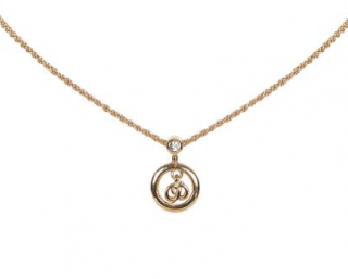 Dior Gold-Tone Crystal Pendant Necklace