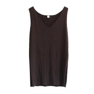 Toteme Black Ribbed Knit Dress