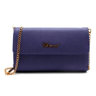 Chopard Blue Grained Leather Clutch