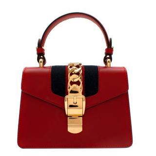 Gucci Sylvie mini red cross-body bag