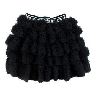 Balmain tulle black skirt