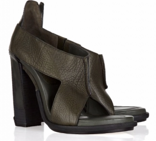 Alexander Wang Khaki Leather Sandals