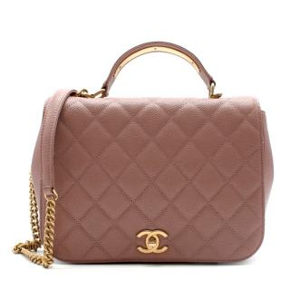 Chanel dusty pink leather bag