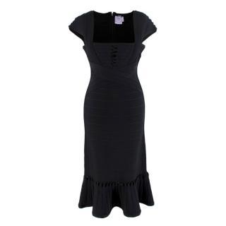 Herve Lager Midi Black Dress