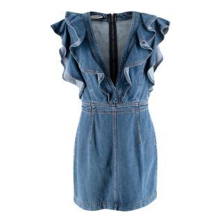 Philosophy by Lorenzo Serafini Mini Denim Dress