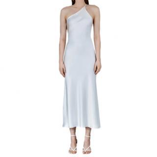Galvan London Ibiza Silk Satin Midi Dress