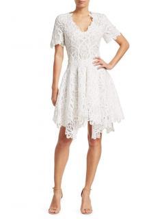 Jonathan Simkhai White Lace Fit & Flare Dress
