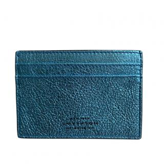 Smythson Metallic Panama Card Holder