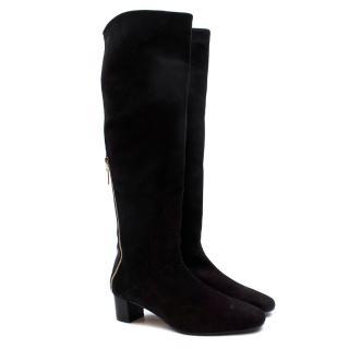 Stuart Weitzman Shrimpton Leather Panelled Suede Boots