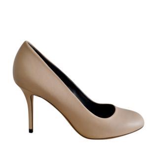 Celine Nude Smooth Leather Pumps