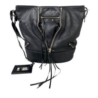 Balenciaga Motocross Papier Drop Bucket Bag