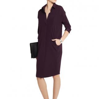 Zero+ Maria Cornejo Purple Silk Charmeuse Manu Dress