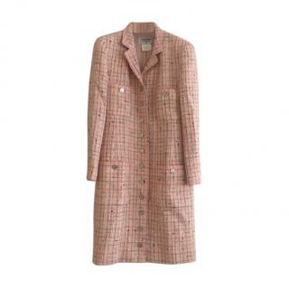 Chanel 1996 Boutique Vintage Fantasy Tweed Pink Coat