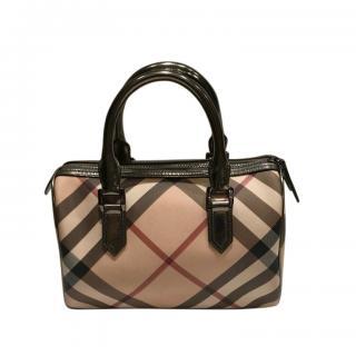 Burberry Check PVC Top Handle Bag