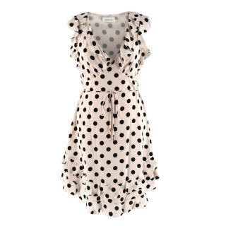 Zimmermann Black & White Polkadot Silk Mini Dress