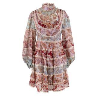 Zimmermann Floral Ladybeetle Spliced Mini Dress