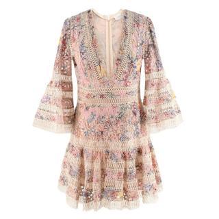 Zimmermann Lovelorn Floral Flutter Dress