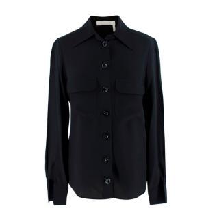 Chloe Black Silk Button Down Shirt