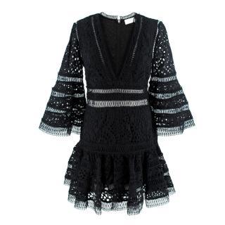 Zimmermann Black Lovelorn Flutter Mini Dress