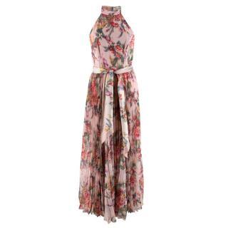 Zimmermann Wavelength halterneck floral-print crepe dress