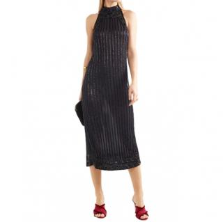 Ganni Quincy embellished tulle midi dress