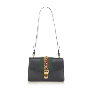 Gucci Small Leather Sylvie Shoulder Bag