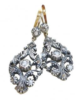Antique Georgian  Diamond Drop Earrings