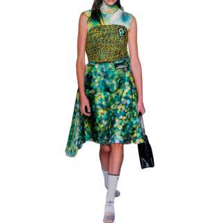 Prada Digital Floral Print Sleeveless Dress