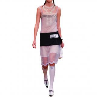 Prada Tulle Runway Embroidered Slip Dress