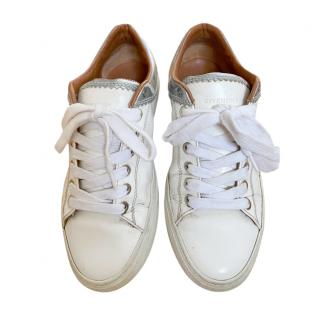 Givenchy White Leather Low Top Sneakers