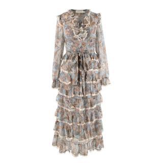 Zimmermann Ladybeetle Paisley Tiered Midi Dress