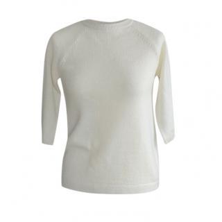 Max Mara Ivory Wool & Cashmere Knit Top