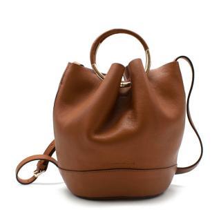 Massimo Dutti Brown Leather Bucket Bag