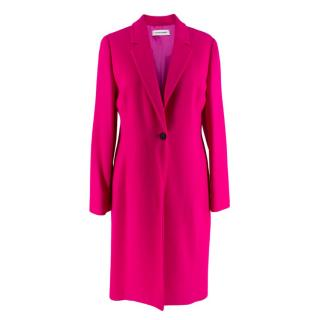 Louise Kennedy Pink Wool Crepe Coat