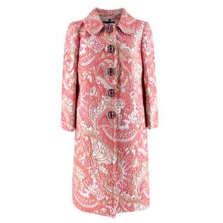 Dolce & Gabbana Jewel Button Jacquard Coat