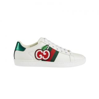 Gucci GG Apple Embroidered Ace Sneakers