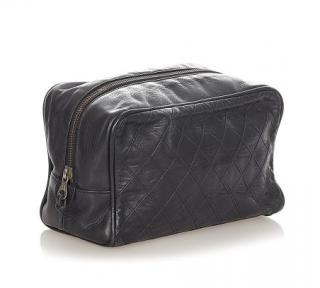 Chanel Matelasse Lambskin Leather Pouch