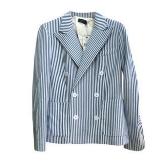 Polo Ralph Lauren Blue & White Striped Blazer