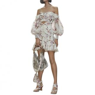 Zimmermann Corsage Bauble Skirt and strapless crop top